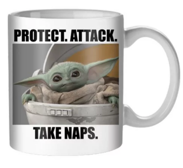 Star Wars: The Mandalorian The Child Take Naps 20 oz. Mug