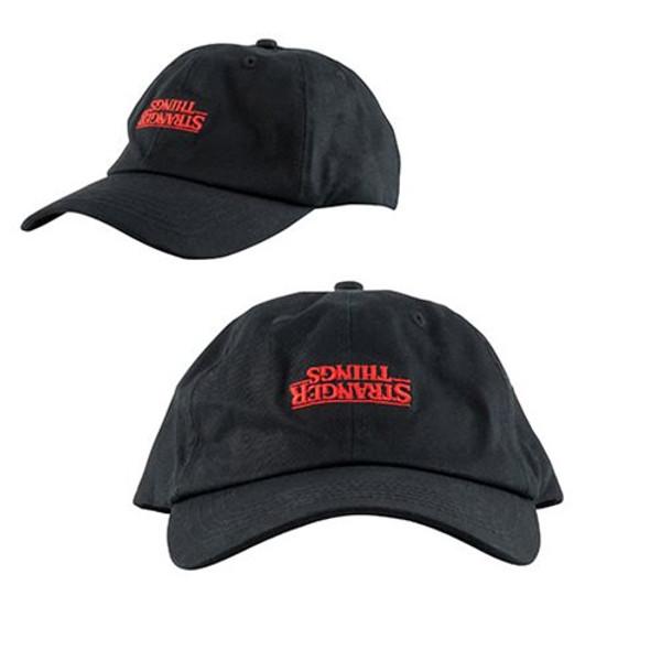 Stranger Things Logo Upside Down Baseball Hat