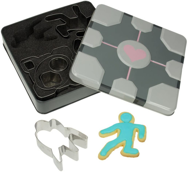 Portal Companion Cube Cookie Cutters