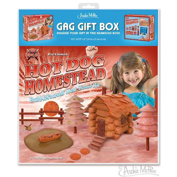 HOT DOG HOMESTEAD GAG GIFT BOX