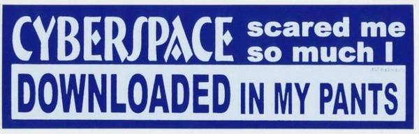 Cyberspace Scared me I Downloaded in my Pants  Bumper Sticker #457