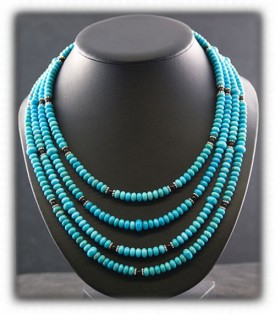 Fashion Turquoise Beads - Silver Turquoise Jewelry
