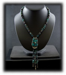 Silver Turquoise Fashion Necklace