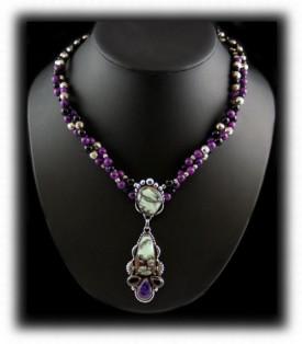 Silver Turquoise Jewelry - Tortoise Turquoise Pendant
