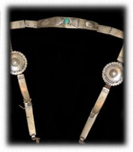 Antique Indian Silver Horse Bridle