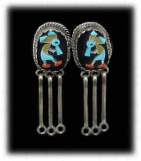 Zuni Jewelry - Mosaic Zuni Earrings