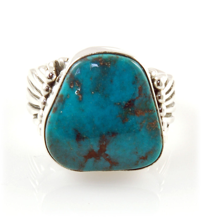 Classic Silver Ring with Bisbee Turquoise