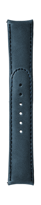 """ESSENCE """"Deployant"""" Blue Leather Strap (without clasp)"""