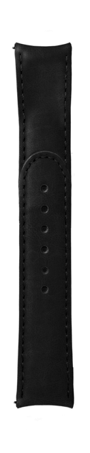 """ESSENCE """"Deployant"""" Black Leather Strap Black Stitching (without clasp)"""