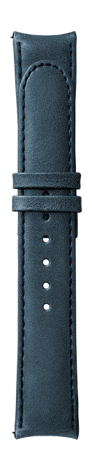 """ESSENCE """"Butterfly"""" Blue Leather Strap (without clasp)"""