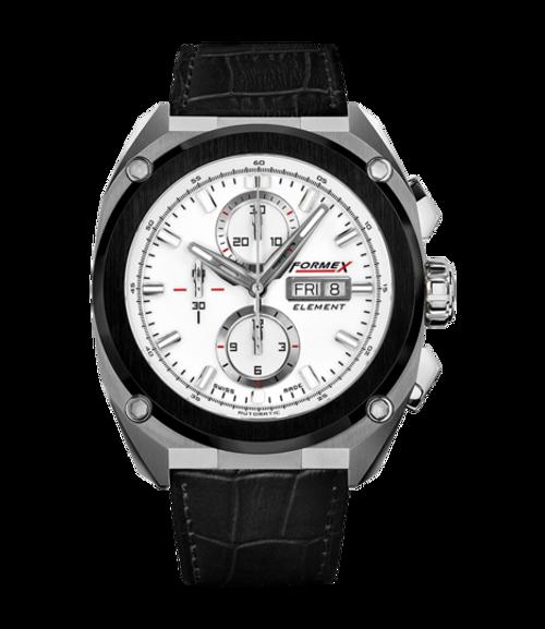 Automatic Chronograph Ceramic Bezel White