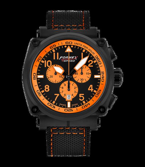 Quartz Chronograph Orange Black