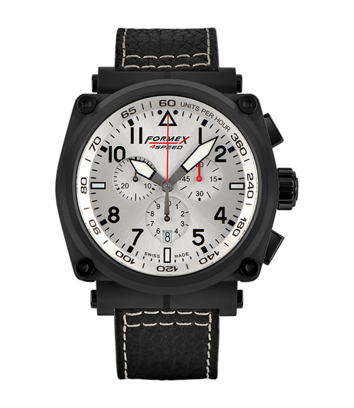 Quartz Chronograph Silver Black