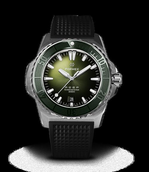 Automatic Chronometer COSC 300M Green Dial Black Strap