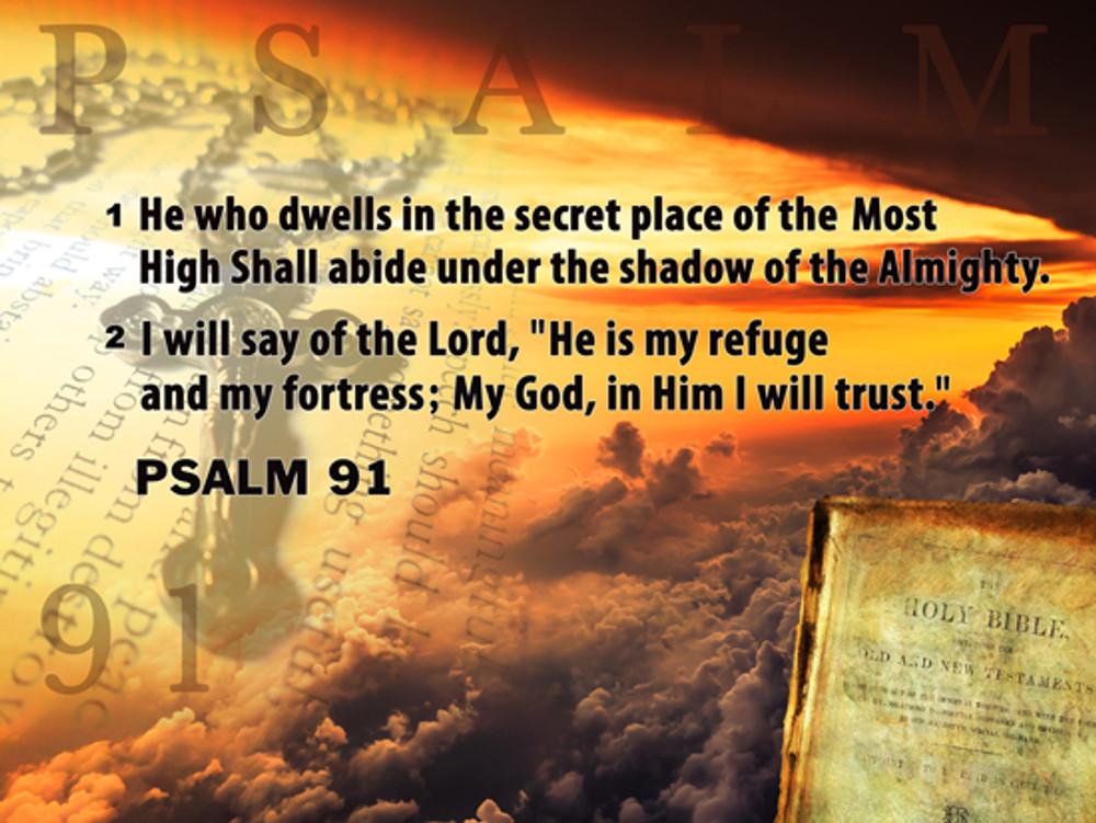 photo regarding Psalm 91 Printable named Psalm 91 Poster Bible Scripture Estimate Inspirational Artwork Print (24x18)