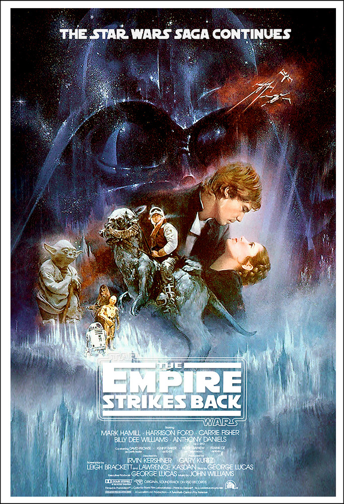 Image result for the empire strikes back poster