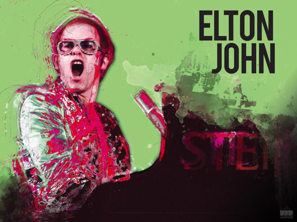 Elton John Poster Music Wall Art Print 24x18