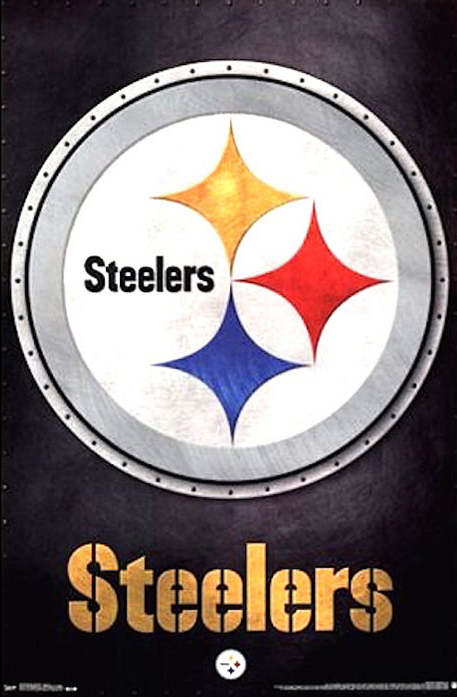 Pittsburgh Steelers Poster Football Wall Art Print 22x34
