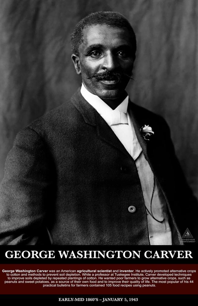 graphic regarding Printable Pictures of George Washington named George Washington Carver Poster Black Record Print (11x17)
