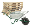 Pallet of Professional Pneumatic Wheel Galvanised Wheelbarrows - 120 Ltr / 150Kg