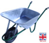 Pallet of Builder Galvanised Wheelbarrows - 90 Ltr / 140Kg (14 units)