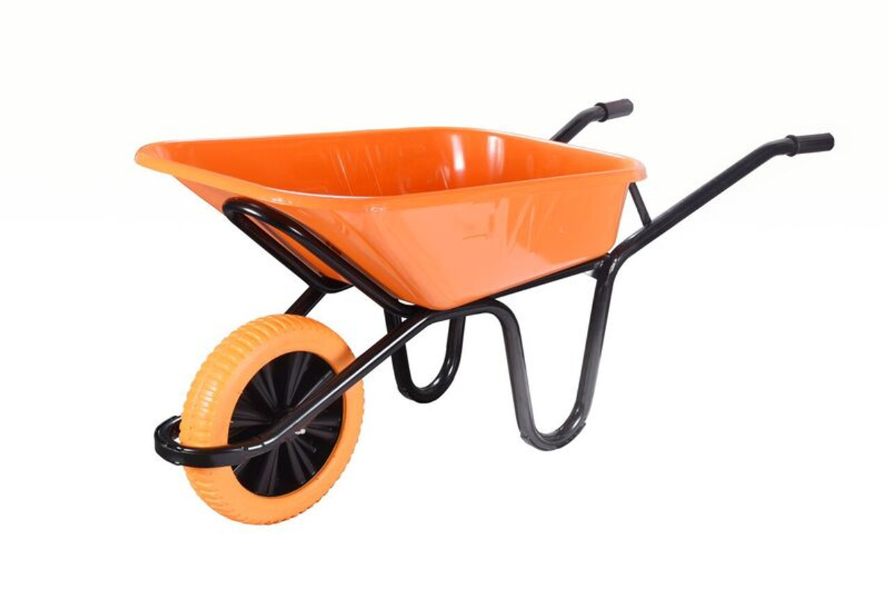 Workhorse Extra Heavy Duty Orange Wheelbarrow Wheelbarrows