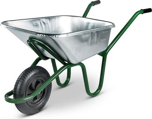 The Invincible Galvanised Wheelbarrow - 175kg / 120 Ltr