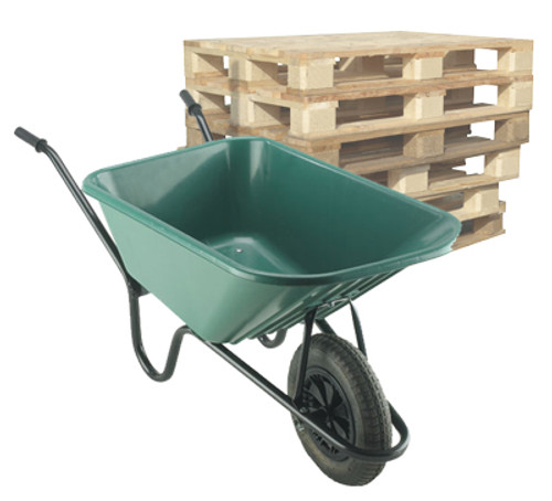 Pallet of Walsall Monarch (Super Mucker) Solid Wheel Wheelbarrows - 120 Ltr / 150Kg