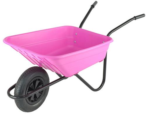 Bristol Shire Pink Mucker Wheelbarrow - 90Ltr / 120kg