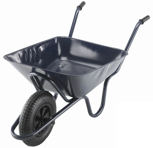 An image of The Integral Black Wheelbarrow - 85 Ltr / 125kg