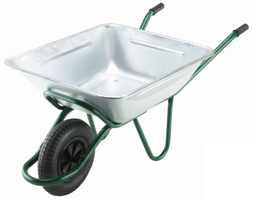 An image of The Smithfield Galvanised Wheelbarrow - 175 Ltr