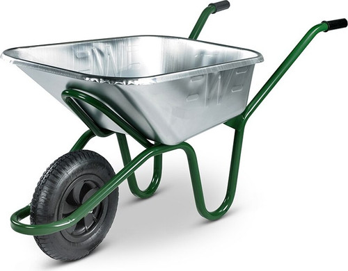 An image of The Invincible Galvanised Wheelbarrow - 175kg / 120 Ltr