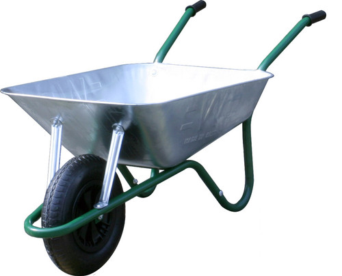 An image of The Easiload Galvanised Wheelbarrow - 85 Ltr / 150Kg