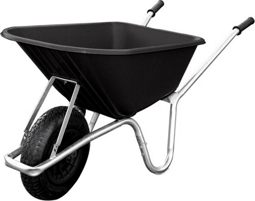 An image of Big Mucker 100 Ltr / 120 Kg Wheelbarrow - Black