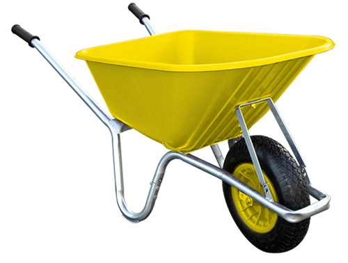 An image of Big Mucker 100 Ltr / 120 Kg Wheelbarrow - Yellow