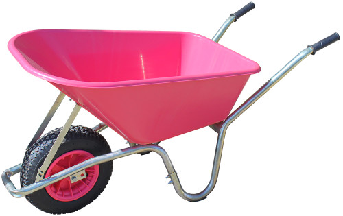 An image of Big Mucker 100 Ltr / 120 Kg Wheelbarrow - Pink