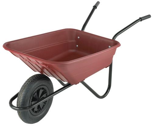 An image of Bristol Shire Burgundy Mucker Wheelbarrow - 90Ltr / 120kg
