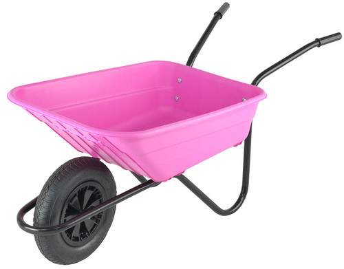 An image of Bristol Shire Pink Mucker Wheelbarrow - 90Ltr / 120kg