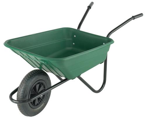An image of Bristol Shire Green Mucker Wheelbarrow - 90 Ltr / 120Kg