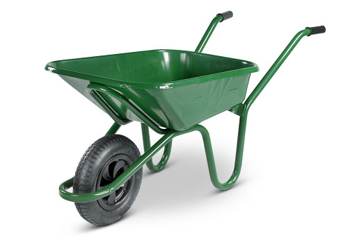 An image of Ex-display - The Endurance Green Wheelbarrow - 90 Ltr / 150Kg