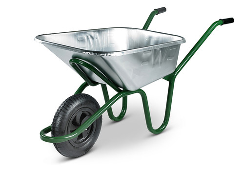 An image of Ex-display - The Invincible Galvanised Wheelbarrow - 175kg / 120Ltr -