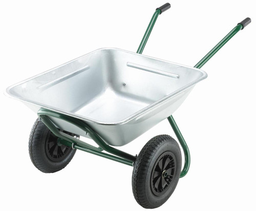 An image of Ex Display - Walsall Landscaper Two Wheeled Tipper Wheelbarrow