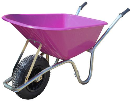 An image of Big Mucker 100 Ltr / 120 Kg Wheelbarrow - Dark Pink