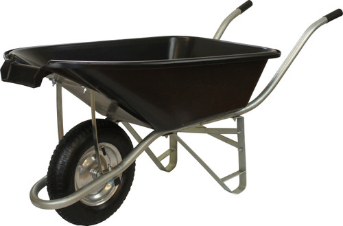 An image of Pouring Tipping Black Wheelbarrow - 75 Ltr / 150Kg / 4.5CBF