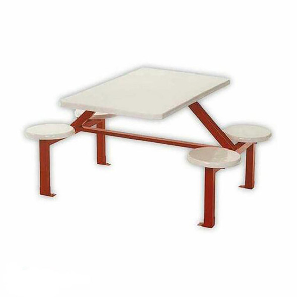 Canteen Table Four Seater Rectangle Stool Set