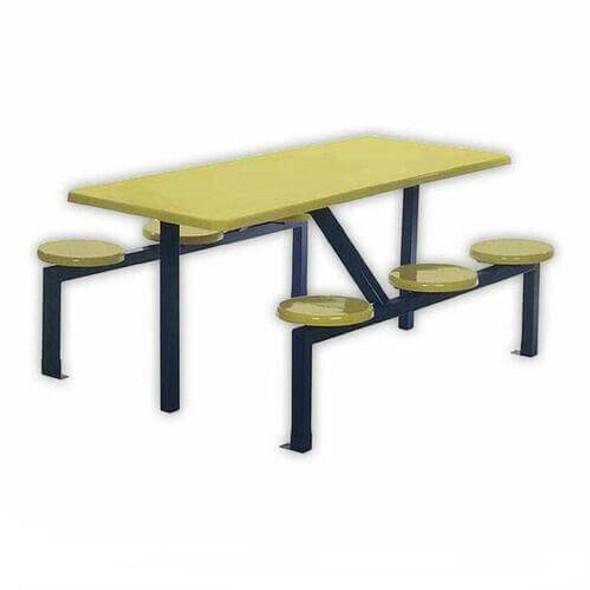 Canteen Table Six Seater Rectangle Stool Set