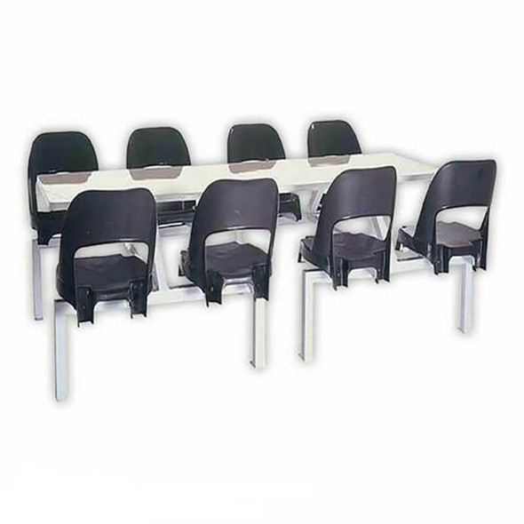 Canteen Table Eight Seater Rectangle Alpine Set