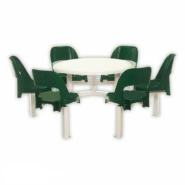 Canteen Table Six Seater Round Alpine Set