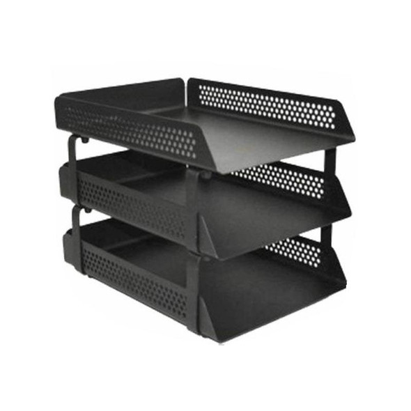 Perforated Steel Letter Tray 3 Tier