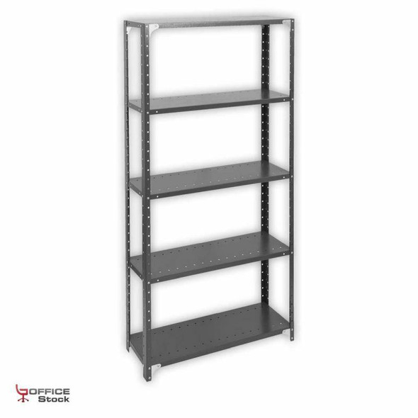 Open Steel Shelving Unit with corner gussets with 5 Shelves
